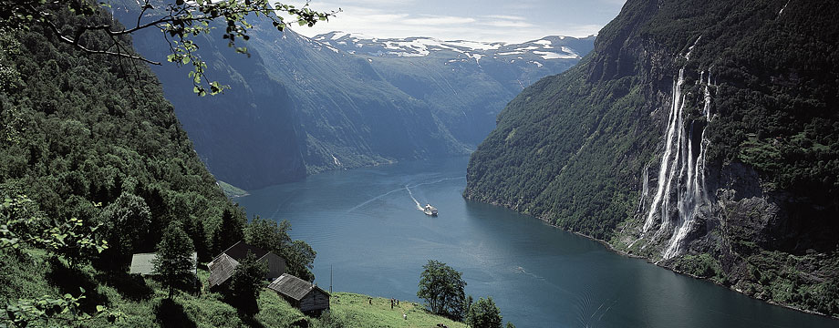 illustration: Geiranger fjord in Norway