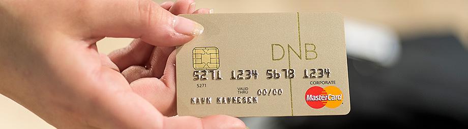 Nettløsningen Mitt Corporate Mastercard - DNB