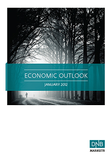 illustration: frontpage for the report economic outlook